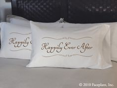 Happily Ever After pillow cases (Set of 2) by Faceplant Dreams. Available for $42.00 at Lizzy G's Fine Gifts