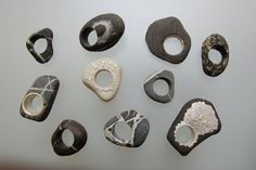 Angelo LOMUSCIO (IT) - Maratea stones -2005 Anelli Sasso - pebble rings