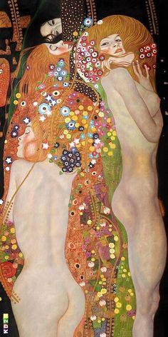 New Painting Art Gustav Klimt Ideas Gustav Klimt, Klimt Art, Figure Painting, Painting & Drawing, Art Nouveau, Art For Art Sake, Love Art, Japanese Art, Oeuvre D'art