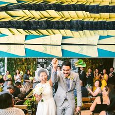 Wedding programs that fold into paper airplanes? Yes please! | Jenn Emerling Photography