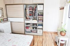 It's about wardrobe or closet organization with a perspective. organization indian Our master bedroom's wardrobe organization Sliding Wardrobe Designs, Sliding Wardrobe Doors, Wardrobe Design Bedroom, Diy Wardrobe, Bedroom Designs, Wardrobe Organisation, Home Organization Hacks, Closet Organization, Small Room Bedroom