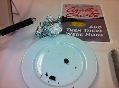 """And Then There Were None"" by Agatha Christie. From the Luria Library Edible Book Festival."