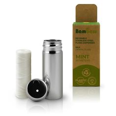 A vegan and biodegradable dental floss made from plant based, corn starch PLA. A much more eco-friendly alternative to your typical plastic dental floss. Stainless Steel Containers, Dental Floss, Plastic Waste, Oral Hygiene, Wash Bags, Corn Starch, Biodegradable Products, Peppermint, Wax