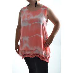 Dámska bavlnená tunika - koralovo-biela Tunic Tops, Women, Fashion, Tunic, Moda, Fashion Styles, Fashion Illustrations, Woman