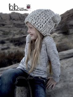 Tenley Beanie and Mitt Set PATTERN ONLY Crochet by BeccasBeanies