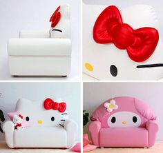 hello kitty & my melody chairs