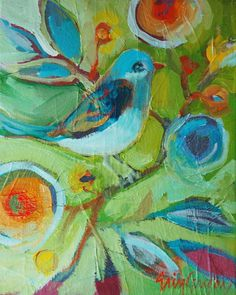 little blue bird by eringregory on Etsy
