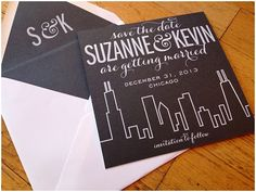 this save the date is available with or without glitter to