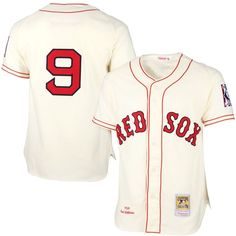 Ted Williams Boston Red Sox Mitchell & Ness MLB Authentic Jersey – Cream