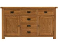 Oakton 6 drawer sideboard - The Oakton Collection is one of the most diverse available today, meaning that you can find the perfect item, whatever the style or size of your home. Beautifully crafted and finished with a subtle nod towards the rustic styling, with chunky tops and metal handles for a distinct look, this range is undeniably stylish with a robust nature that will find itself complimenting your home for many years to come.
