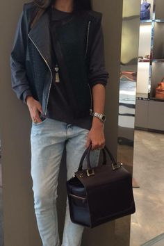 casual look with Lancel bag