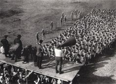 Scene from the production of Metropolis.