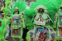 Mardi Gras Indians are known for brilliant costumes, traditional music and marching, although parade routes are kept secret for these African-American krewes. Tribes often gather in the same areas each year, spots like Bayou St. John at Orleans Avenue in Mid-City and Orleans and North Claiborne near Armstrong Park.