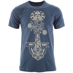 Obey Oil Rigged T-Shirt - Dark Denim