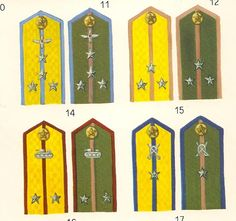 Russian Army Shoulder straps 3 stars Colonel General Gold Kant
