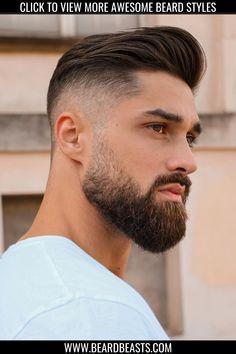 Faded Beard Styles, Beard And Mustache Styles, Beard No Mustache, Hair And Beard Styles, Medium Beard Styles, Short Hair Styles Men, Beard Styles For Boys, Different Beard Styles, Fade Haircut Styles