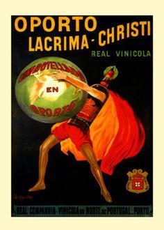 Porto Wine Lacrima Christi Portugal by Cappiello Vintage Poster Repro FREE S/H Vintage Advertisements, Vintage Ads, Vintage Posters, Portugal Porto, Wine Poster, Port Wine, Travel Posters, Portuguese, Wines
