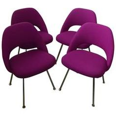 FOUR 1950s Saarinen No. 71 Series Chairs for Knoll