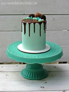 simple drip cake white background 1