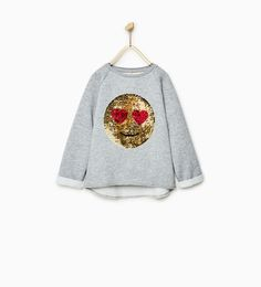 Image 1 of SEQUIN EMOJI SWEATSHIRT from Zara