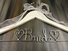 Bride Hanger Wire Wedding Dress Hangers by OriginalBridalHanger, $25.00 #WeddingDressHanger #BrideHangers