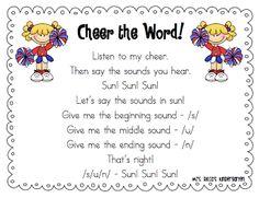 Cheer the Word segmenting, Mrs. Ricca's Kindergarten: Sight Words & Segmenting Freebies!