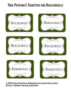 Basilikumsalz und Glühweinzucker - Geschenke aus der Küche + Freebie Blog, Printables, Free, Diy, Home Decor, Basil, Craft Tutorials, Christmas Time, Advent Calenders