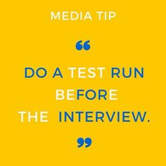 MEDIA TIP: Do a test run before the interview. Make sure you confirm location (or platform) time and date. Do a practice arrival run. Test your technology. Plan to be there at least 20 minutes early. Being late or missing an interview can annihilate your chances for a second one. #BeAnAuthor  Join the discussion> TheBBBClub.com.