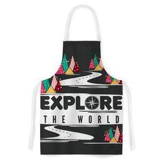 Kess InHouse Famenxt 'Explore The World' Artistic Apron