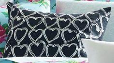 """Betsey JohnsonBoudoir Embroidered Heart Decorative Pillow""-Betsey Johnson definitely deserves a place in a Glamourpuss room from @wayfair"