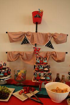 Pirate mast for Jennifer's baby shower