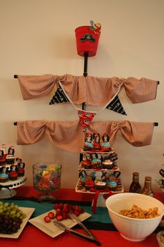 Pirate mast for Jennifer's baby shower