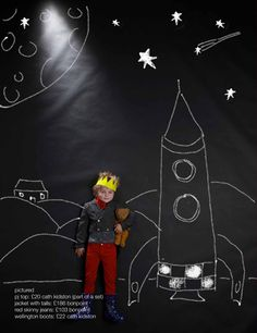 rocket photo...I like this Teen Library, Library Ideas, Chalk Pictures, Boy Birthday Parties, 3rd Birthday, Library Programs, Space Program, Night Photos, Monster Party