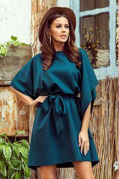 Alltagskleid ID 143878 Numoco Women's Fashion Dresses, Boho Fashion, Womens Fashion, Day Dresses, Blue Dresses, Moda Xl, Marine Uniform, Style Classique, Butterfly Dress