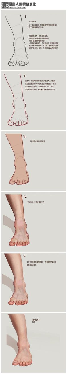 How to draw/sketch/paint realistic human feet for real life portraits and drawings.
