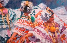 I've always loved Al Sprague's paintings. This one captures the beauty and elegance of Las Polleras.