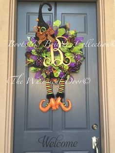 Hey, I found this really awesome Etsy listing at https://www.etsy.com/listing/246372777/witch-wreath-monogram-witch-wreath-witch