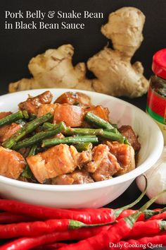 There are probably many many Chinese dishes that one can prepare with a bottle of black bean garlic sauce, and I think cooking pork with said sauce is one of the more traditional approach. The recipe that comes with the bottle also uses pork (steamed pork in black bean sauce), though I haven't…