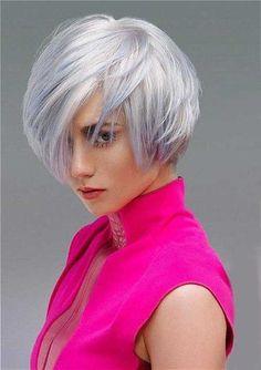 ¡Los peinados de color gris plateado son impresionantes! - Cortes De Pelo!