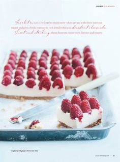 Great dessert in Donna Hay Magazine, Issue 49 Köstliche Desserts, Delicious Desserts, Dessert Recipes, Yummy Food, Cupcakes, Cupcake Cakes, Yummy Treats, Sweet Treats, Cheesecake Recipes