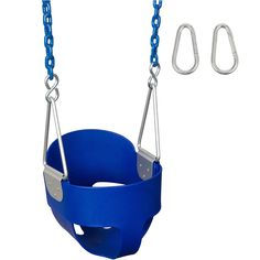 Half Bucket Swing Seat Child Durable Green Blue Yellow Red And Pink