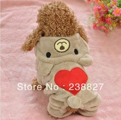 2013 lovely coral velvet Tactic clothing autumn and winter Pet clothes Pomeranian Chihuahua dog clothes than winter small dogs $9.76