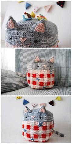 Crochet Bear Patterns, Crochet Animal Amigurumi, Crochet Animals, Crochet Toys, Free Crochet, Cat Keychain, Woolen Craft, Free Pattern, Crochet Projects
