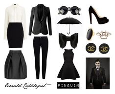 A fashion look from September 2015 featuring evening dresses, white collar shirt and slim blazer. Browse and shop related looks. Cosplay Makeup, Cosplay Outfits, Work Fashion, Fashion Looks, Halloween Costumes, Halloween Ideas, Lord & Taylor, Collar Shirts, Gotham