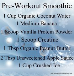 The Ideal Pre-Workout Smoothie