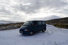 Wombat the transit in the snowy Scottish Highlands #vantravel #homeiswhereyouparkit #campervan #travel