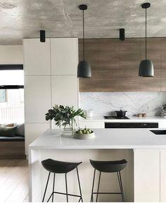 Gorgeous Luxury White Kitchen Design and Decor Ideas - Luxury Kitchen Remodel Kitchen Room Design, Luxury Kitchen Design, Contemporary Kitchen Design, Home Decor Kitchen, Interior Design Kitchen, Home Kitchens, Kitchen Ideas, Luxury Kitchens, Kitchen Designs