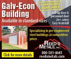 Financing available for Galv-Econs! Call today for a free quote! 800-581-4645