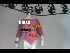 Blusa triangular, fácil de tejerA GANCHILLO PARTE 1 ( fácil y sobretodo muy linda ) **********************