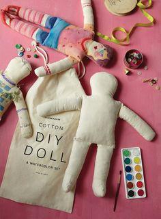 Doll & Watercolor Set design by Sir/Madam DIY Doll & Watercolor Set design by Sir/Madam Craft Kits For Kids, Diy For Kids, Crafts For Kids, Diy Crafts, Diy Gifts For Kids, Family Crafts, Wine Bottle Crafts, Mason Jar Crafts, Mason Jar Diy